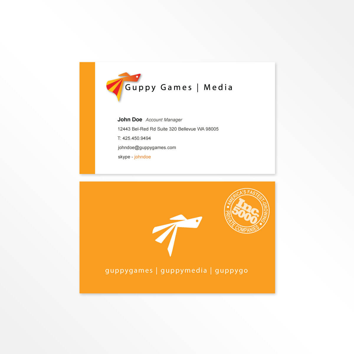 Previous Guppy Media business card
