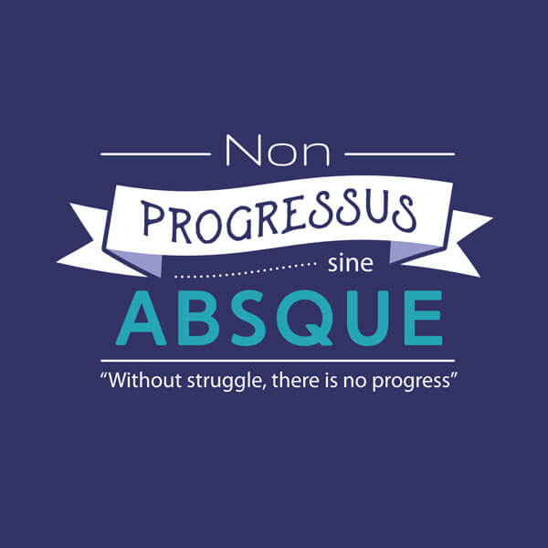 Nuance t-shirt version 2 back design: Without struggle there is no progress